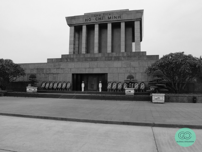 In front of the Ho Chi Minh Mausoleum