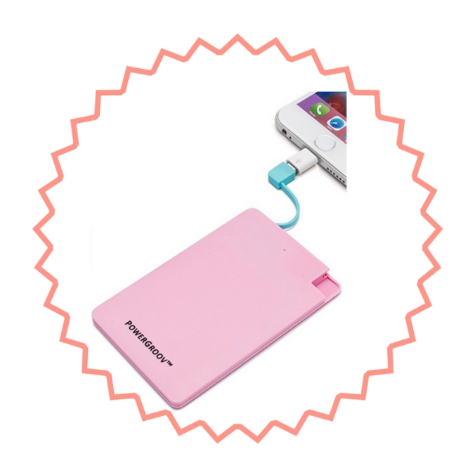 Powergroove pink portable powerbank