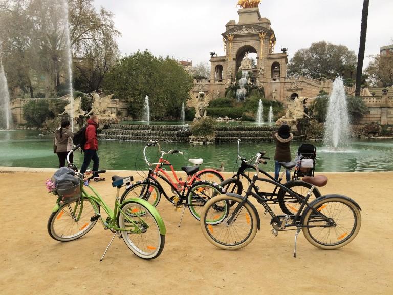 Cruising Barcelona bicycles