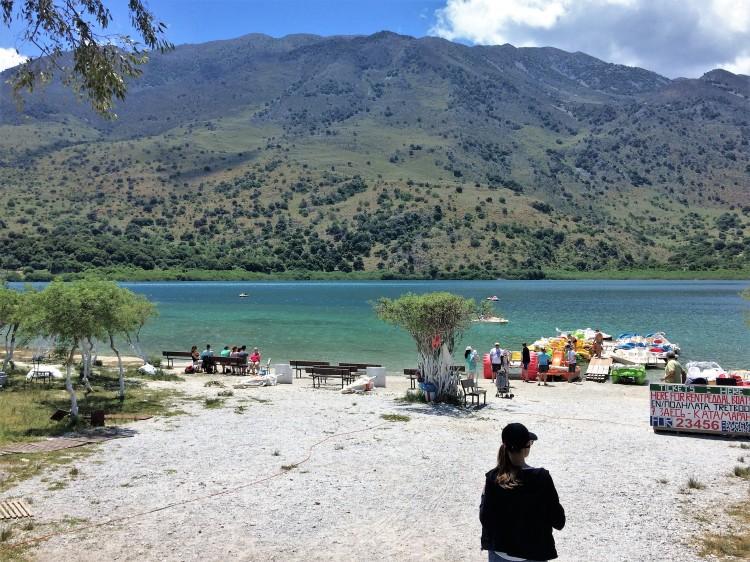 Lake Kournas Crete Greece