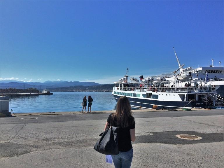 Boarding Crete Greece Balos Gramvousa Tour