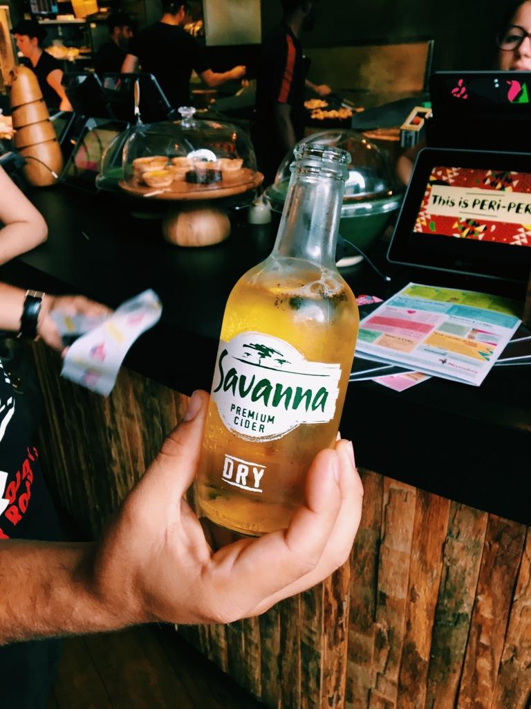 Nando's Click Street London Savanna Dry Cider