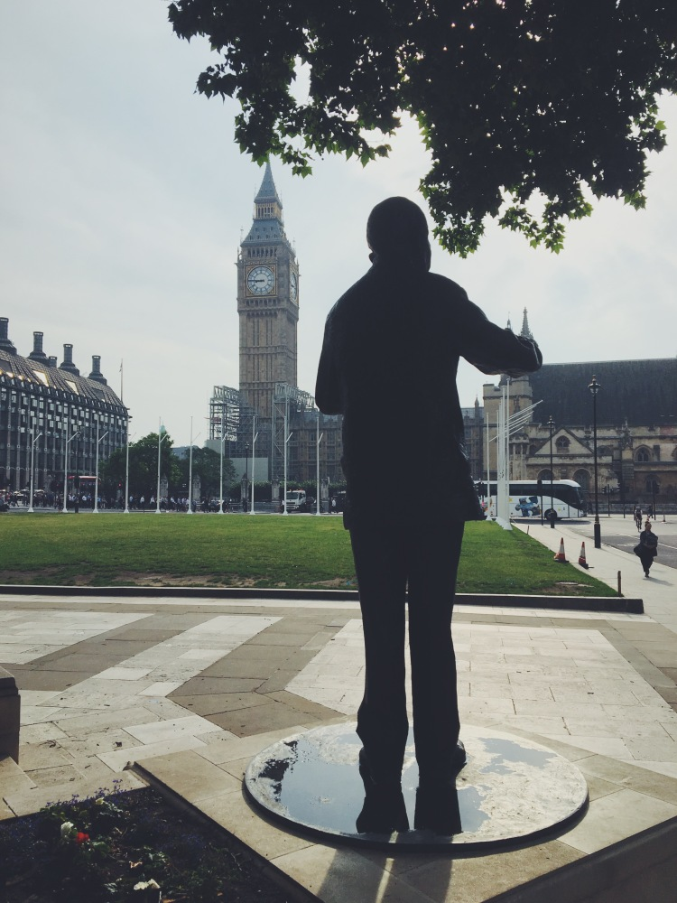 Nelson Mandela statue London parliament square