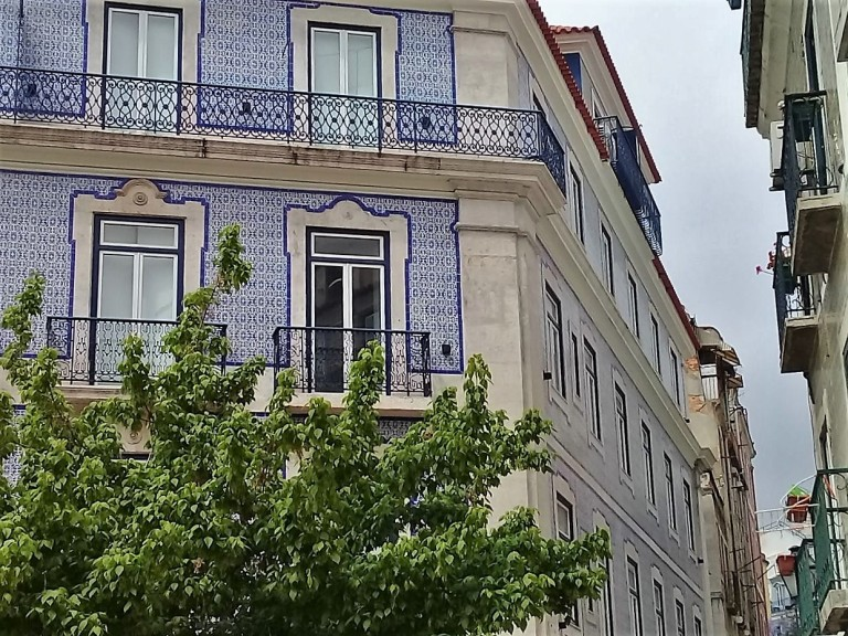 Lisbon Portugal Blue and White tiles